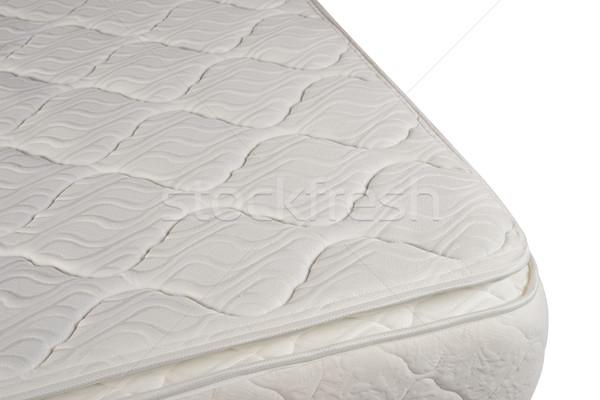 Colchón aislado ortopédico blanco primavera fondo Foto stock © karammiri