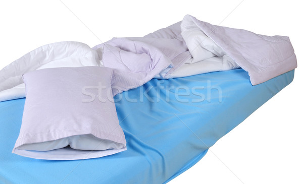 Bett weichen Kissen Haus Lampe Teppich Stock foto © karammiri