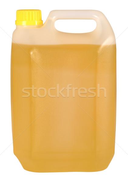 Stock fotó: Olaj · üveg · vágási · körvonal · műanyag · étolaj · arany