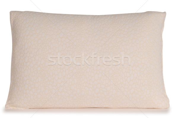 Travesseiro macio branco textura fundo mobiliário Foto stock © karammiri