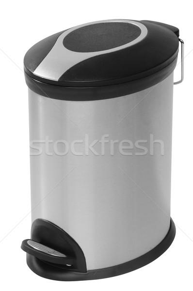 мусорное ведро мусорный ящик белый мусор украшение Сток-фото © karammiri