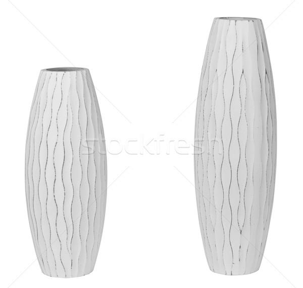 Dekoráció tárgyak vágási körvonal háztartás kellékek fehér Stock fotó © karammiri