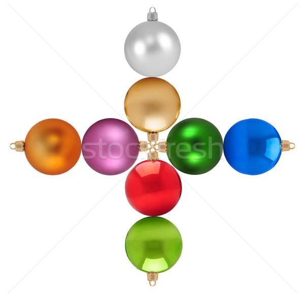 Karácsony színes terv háttér felirat űr Stock fotó © karammiri
