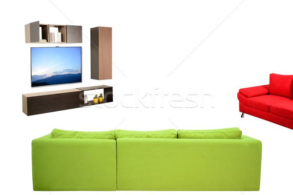 Nappali bútor kanapé háztartás tárgyak szék Stock fotó © karammiri