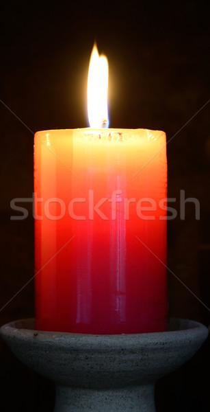 Candle. Stock photo © karammiri