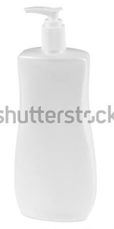 Szépség termék vágási körvonal kondicionáló üveg fehér Stock fotó © karammiri