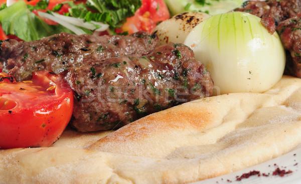 Shish kebab. Stock photo © karammiri
