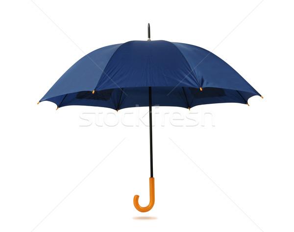 Esernyő vágási körvonal izolált fehér háttér élet Stock fotó © karammiri
