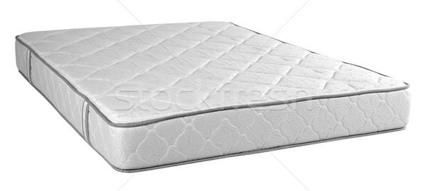 Matrac vágási körvonal ortopéd ágy izolált fehér Stock fotó © karammiri