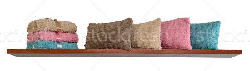 Objetos macio para cima cobertor mobiliário Foto stock © karammiri