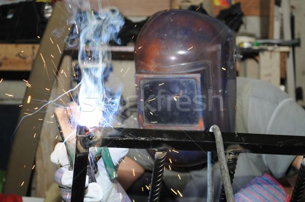 Soldagem compras fabrico construção tecnologia metal Foto stock © karammiri