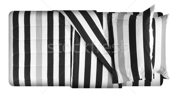Cama cubierto suave almohada muebles alfombra Foto stock © karammiri