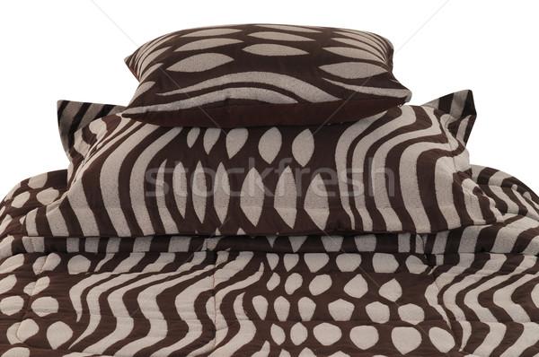 ベッド カバー ソフト 枕 背景 ストックフォト © karammiri