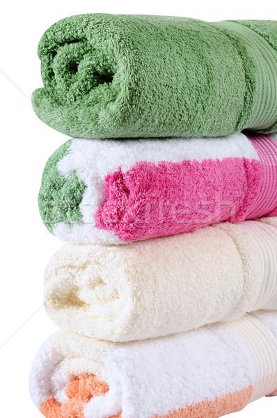 Bath towels. Clipping path Stock photo © karammiri
