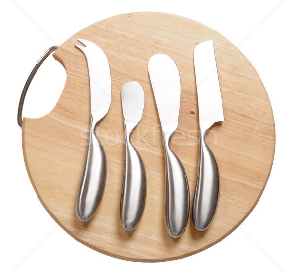 Stock fotó: Konyha · kellékek · vágási · körvonal · főzés · szerszámok · fehér