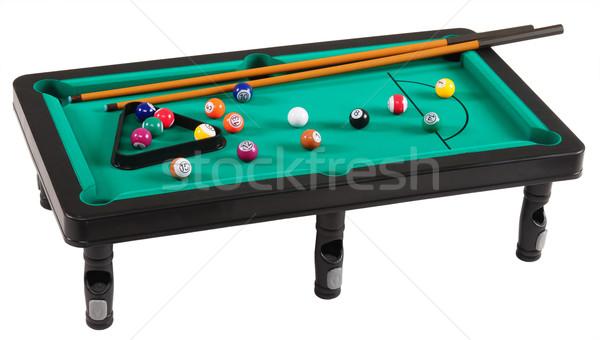 Tabela mesa de bilhar verde grupo diversão preto Foto stock © karammiri