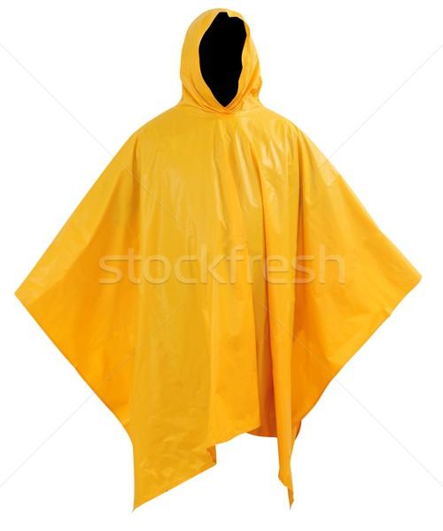Eső kabát citromsárga gumi borító Stock fotó © karammiri