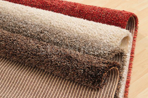 Szőnyeg mintázott szőnyeg textúra szövet piac Stock fotó © karammiri