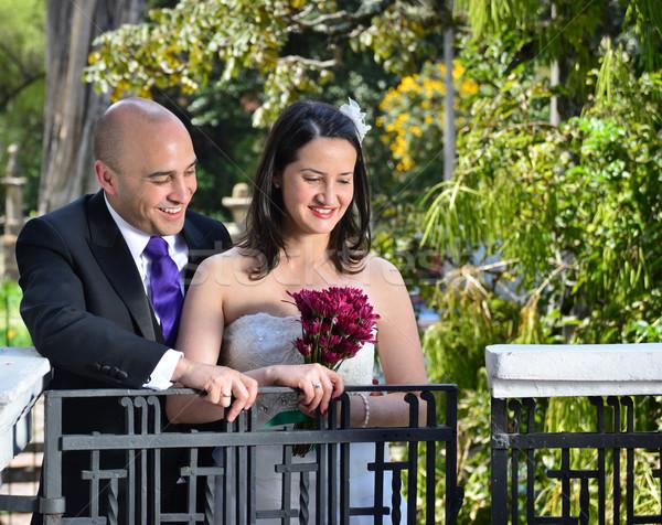 Happy couple getting married. Stock photo © karammiri