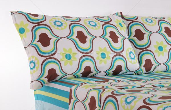 ベッド ソフト 枕 家 ランプ カーペット ストックフォト © karammiri
