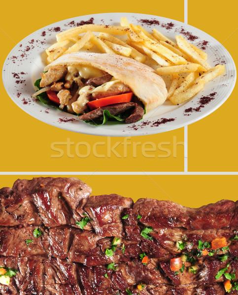 Shawarma and tender beef Stock photo © karammiri