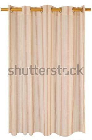 Curtains. Isolated Stock photo © karammiri