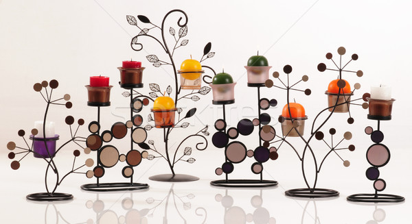 Gyertyák gyertya szett Stock fotó © karammiri