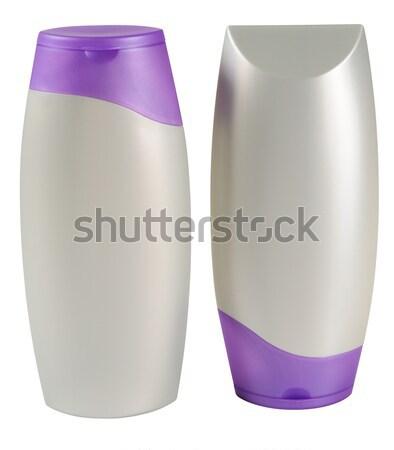 Stock fotó: Szépség · termék · vágási · körvonal · kondicionáló · üveg · fehér