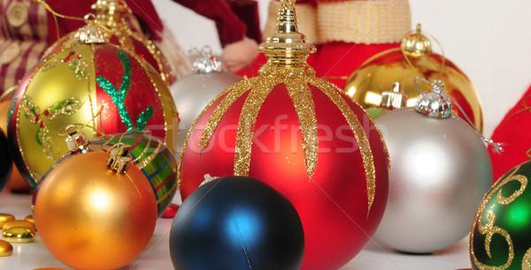 Karácsony tárgyak hátterek boldog fény labda Stock fotó © karammiri