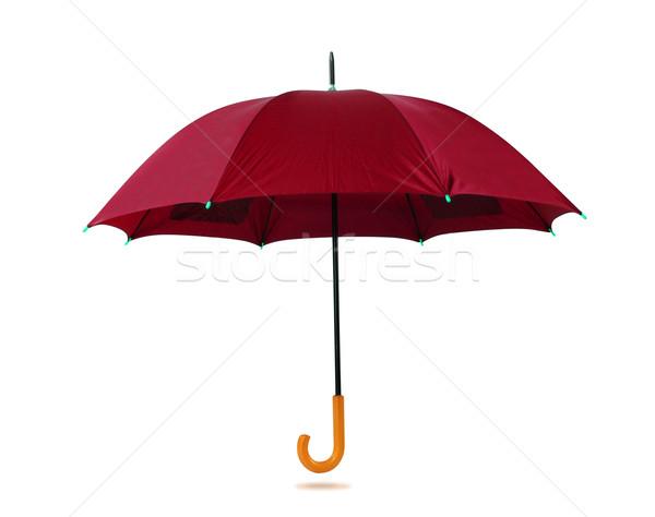 Guarda-chuva isolado branco fundo vida Foto stock © karammiri