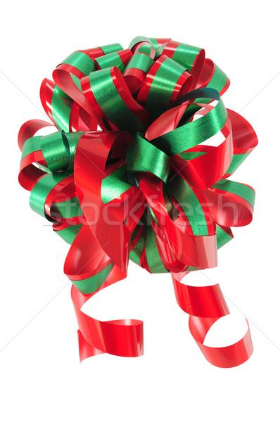Szalag vágási körvonal karácsony íj fehér textúra Stock fotó © karammiri