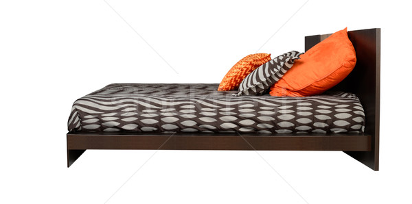 Cama isolado macio textura fundo Foto stock © karammiri