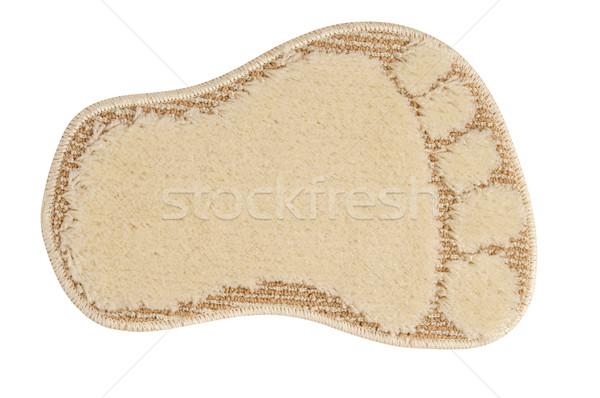 Fürdőszoba szőnyeg kicsi fehér szövet zuhany Stock fotó © karammiri