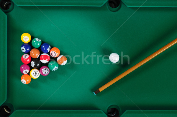 Mesa de bilhar verde projeto diversão preto jogar Foto stock © karammiri