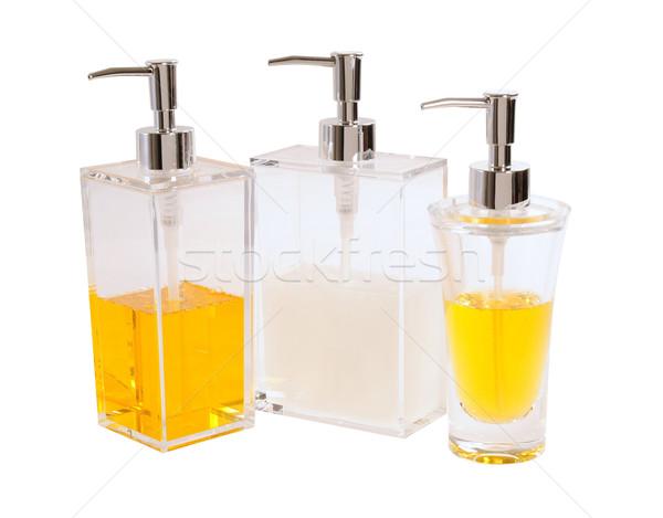 Detergente garrafa limpeza produto branco Foto stock © karammiri