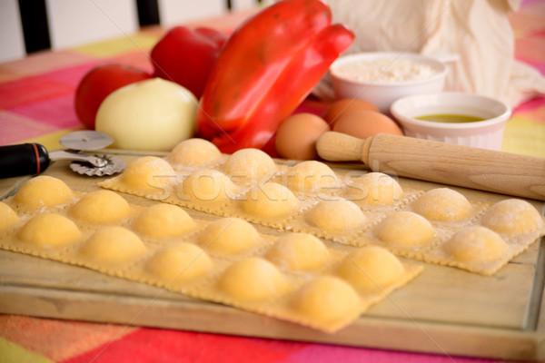 Raviolis. Italian cuisine. Stock photo © karammiri