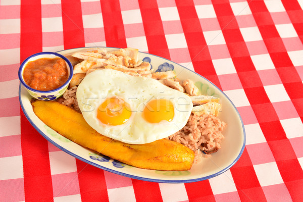 Colombian cuisine. Bandeja paisa. Stock photo © karammiri