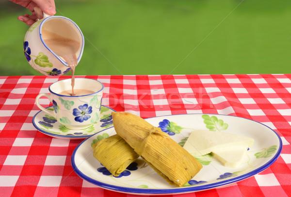 Colombian cuisine. Breakfast. Stock photo © karammiri