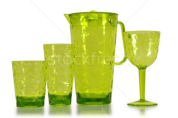 Stock fotó: Konyhai · felszerelés · izolált · konyha · tárgyak · fehér · üveg