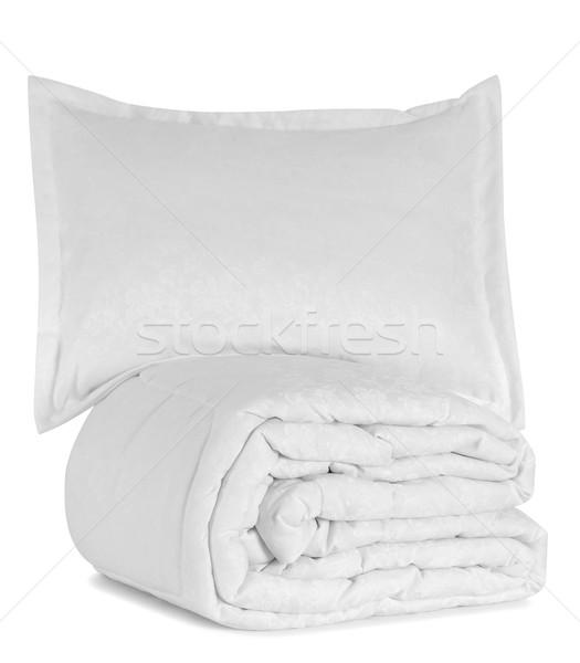Objetos macio travesseiro branco Foto stock © karammiri