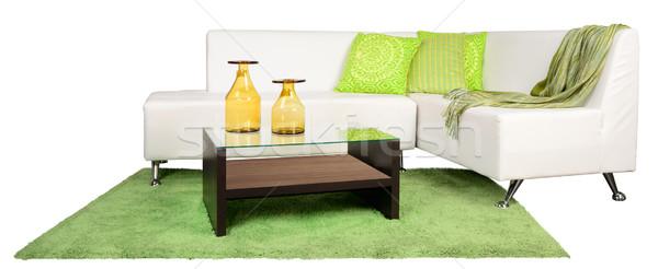 Nappali bútor kanapé háztartás tárgyak televízió Stock fotó © karammiri
