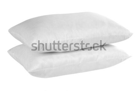 Stock fotó: Párna · puha · fehér · ágy · szövet · ruha
