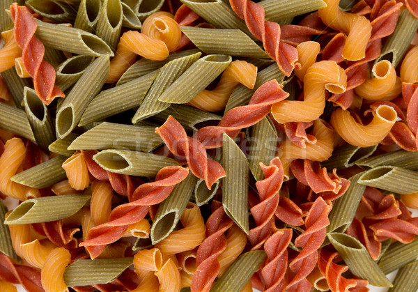 Colored pasta food background Stock photo © karandaev