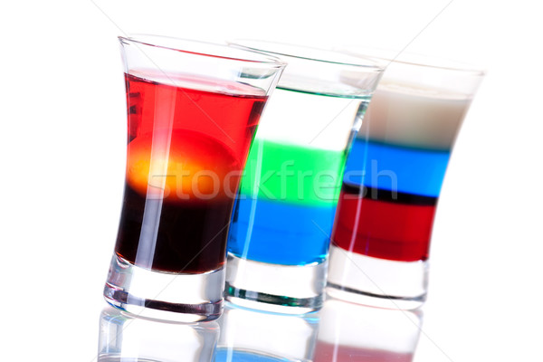 Shot cocktail collection: Morning, Anabolic and Russian Flag Stock photo © karandaev