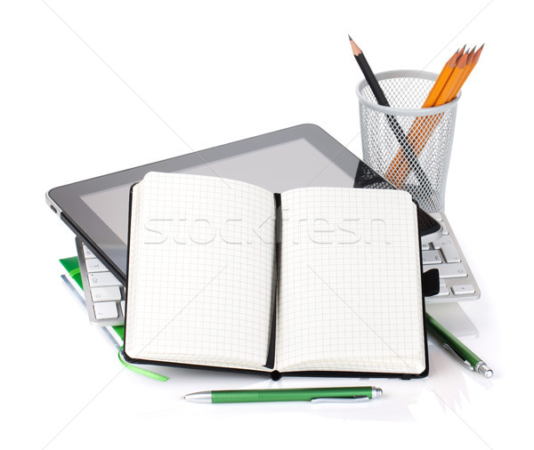 Stock photo: Office supplies and gadgets