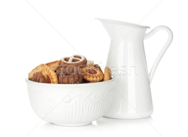 Cookies ciotola isolato bianco Foto d'archivio © karandaev