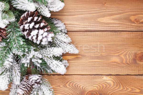 Noël neige rustique espace de copie Photo stock © karandaev