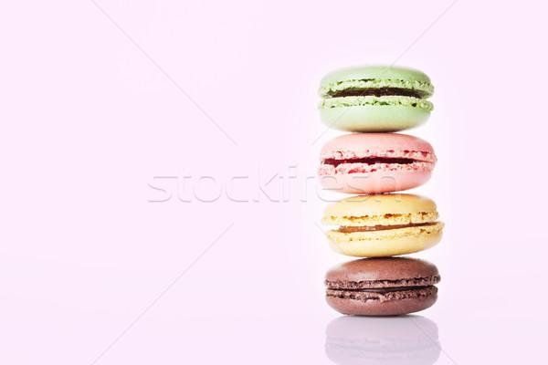 Renkli tatlı macarons renk bo gıda Stok fotoğraf © karandaev