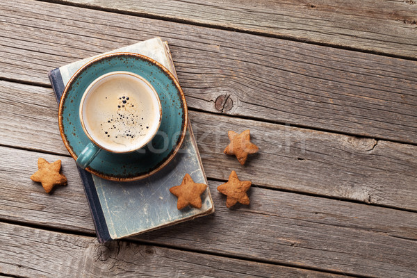 Coffee cup and cookies Stock photo © karandaev