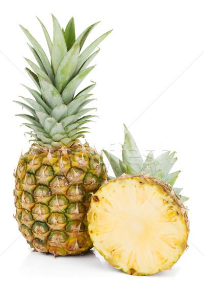 świeże soczysty ananas odizolowany biały zielone Zdjęcia stock © karandaev